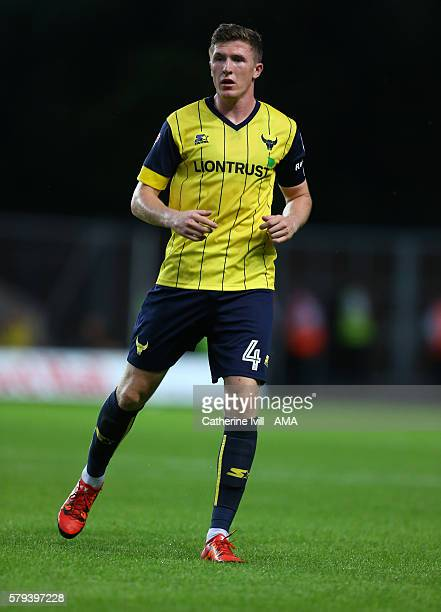 John Lundstram of Oxford United during the PreSeason Friendly match between Oxford United and Leicester City at Kassam Stadium on July 19 2016 in...