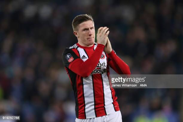 John Lundstram of Sheffield United during the Emirates FA Cup Fifth Round match between Leicester City and Sheffield United at The King Power Stadium...