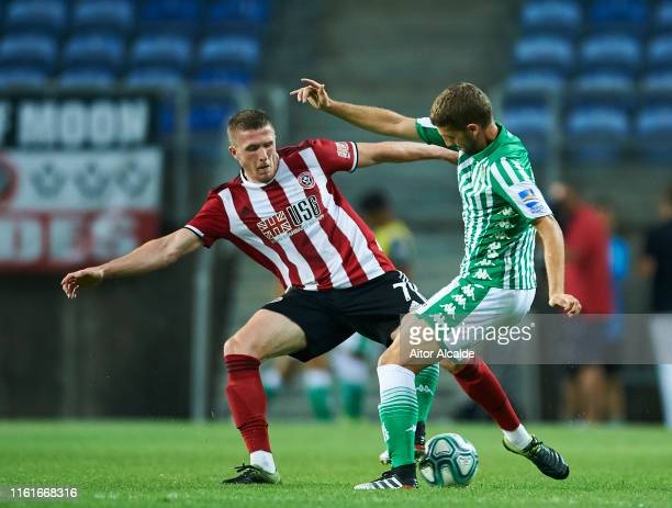 John Lundstram of Sheffield United in action during a preseason friendly match between Real Betis Balompie and Sheffield United FC at Estadio Algarve...