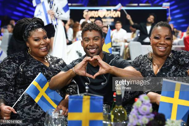 John Lundvik of Sweden and guests during the 64th annual Eurovision Song Contest held at Tel Aviv Fairgrounds on May 18 2019 in Tel Aviv Israel