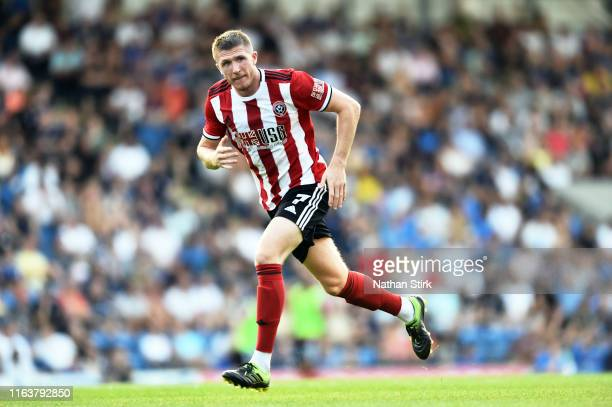 John Lunstram of Sheffield United in acton during the Pre-Season Friendly match between Chesterfield and Sheffield United at on July 23, 2019 in...