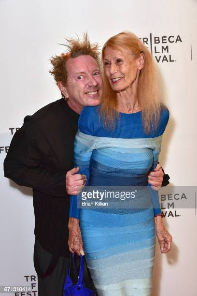 John Lydon aka Johnny Rotten and his wife Nora Forster attend the 2017 Tribeca Film Festival The Public Image Is Rotten screening at Spring Studios...