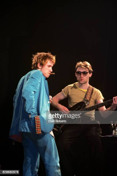 John Lydon and Jah Wobble of Public Image Ltd performing at the Palladium in New York City on April 19 1980