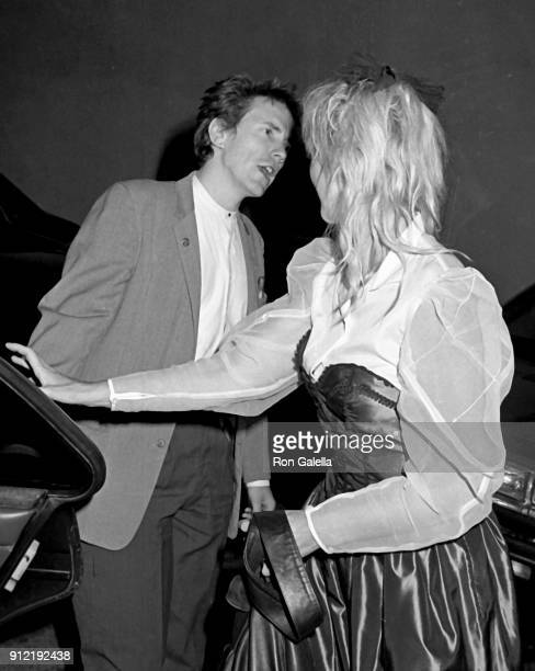 John Lydon and Nora Forster sighted on May 10 1984 at Le Dome Restaurant in Hollywood California