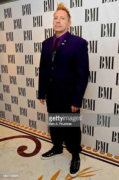 John Lydon attends the BMI Awards at The Dorchester on October 15 2013 in London England