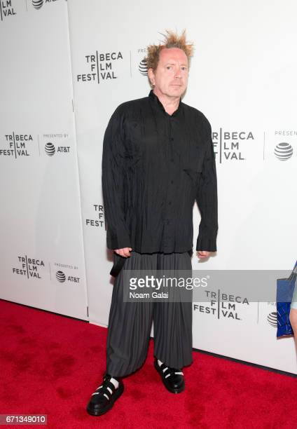 John Lydon attends The Public Image is Rotten Premiere during 2017 Tribeca Film Festival at Spring Studios on April 21 2017 in New York City