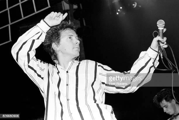 John Lydon of Public Image Ltd performing at the Beacon Theater in New York City on November 2 1984