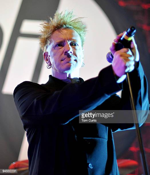 John Lydon of Public Image Ltd performs at Leeds O2 Academy on December 16 2009 in Leeds England