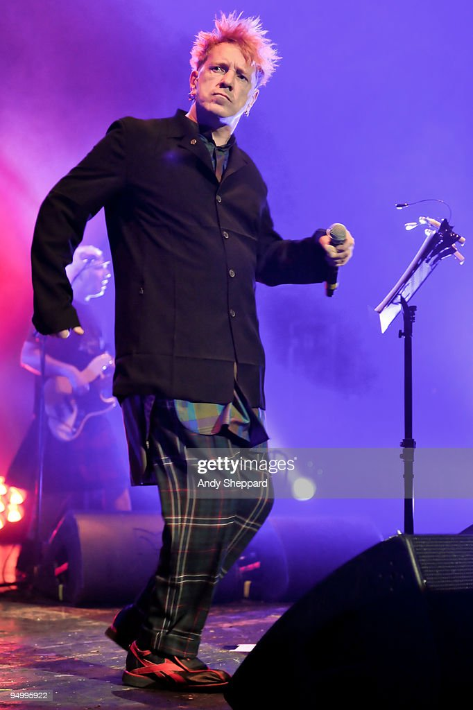 John Lydon of Public Image Ltd performs on stage at Brixton Academy on December 21, 2009 in London, England.