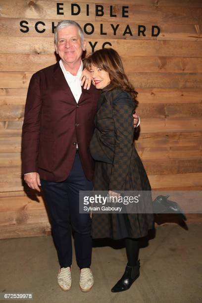 John Lyons and Debia Nelson attend Edible Schoolyard NYC 2017 Spring Benefit at Metropolitan West on April 24 2017 in New York City