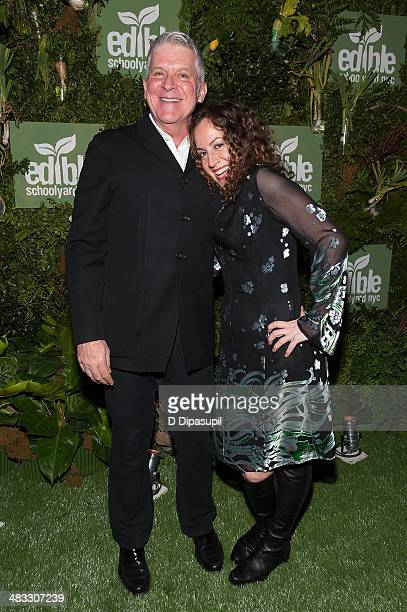 John Lyons and Melanie Dunea attend the Edible Schoolyard NYC Annual Spring Gala at 23 Wall Street on April 7 2014 in New York City