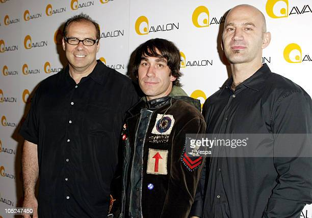 John Lyons Brent Bolthouse and Steve Adelman during Avalon Hollywood Grand Opening Arrivals at Avalon in Hollywood California United States