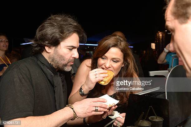John M Cusimano and Rachael Ray attend Amstel Light Burger Bash presented by Pat LaFrieda Meats hosted by Rachael Ray during the Food Network South...