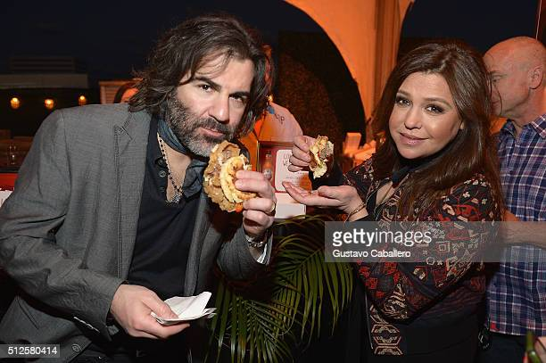 John M Cusimano and Rachael Ray attend the MasterCard Priceless® Preview Amstel Light Burger Bash Presented By Schweid Sons hosted by Rachael Ray...