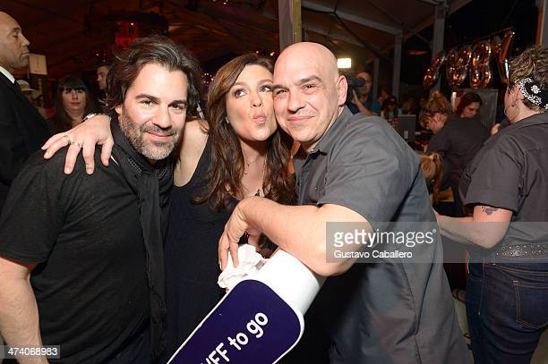 John M Cusimano Rachael Ray and Michael Symon attend Amstel Light Burger Bash presented by Pat LaFrieda Meats hosted by Rachael Ray during the Food...