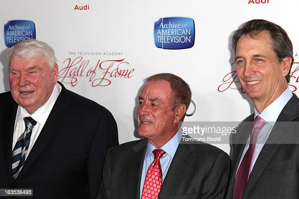 John Madden Al Michaels and Cris Collinsworth attend the Television Academy's 22nd Annual Hall Of Fame Induction Gala held at The Beverly Hilton...