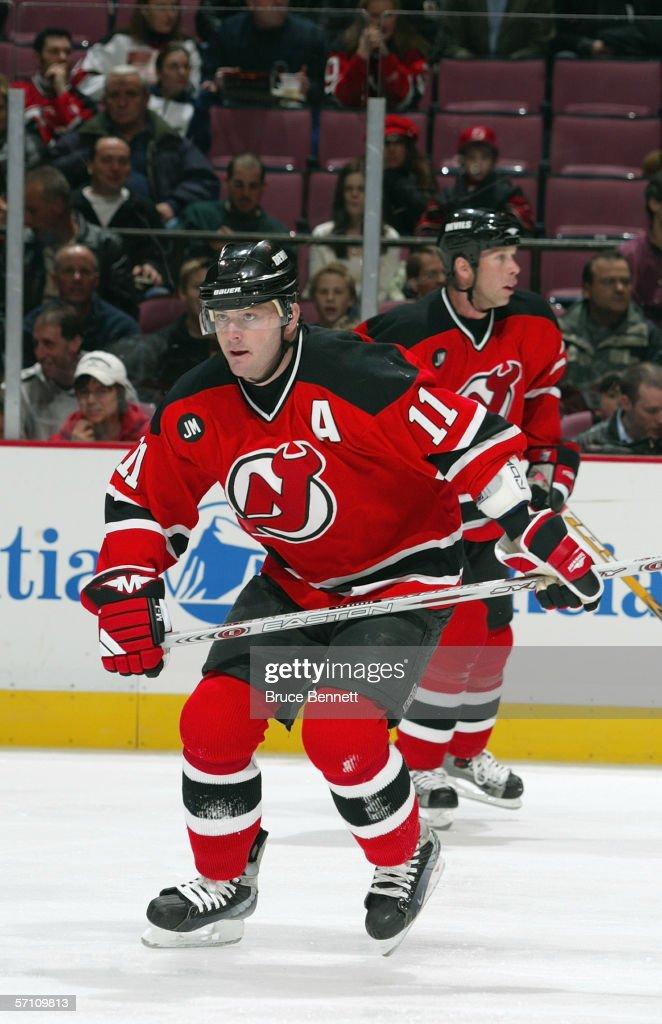huge discount b5e7b 842f3 John Madden of the New Jersey Devils skates against the ...