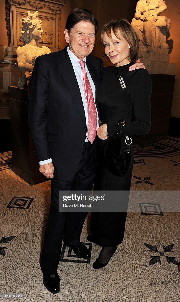 John Madejski (L) and Lady Victoria Getty attend the dinner to celebrate The David Bowie Is exhibition in partnership with Gucci and Sennheiser at the Victoria and Albert Museum on March 19, 2013 in London, England.