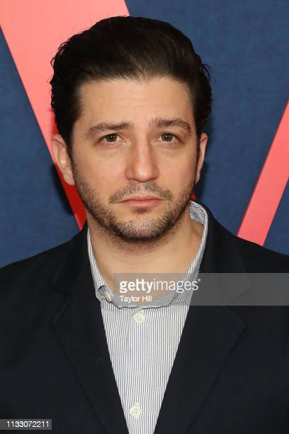 John Magaro attends the premiere of the final season of Veep at Alice Tully Hall on March 26 2019 in New York City
