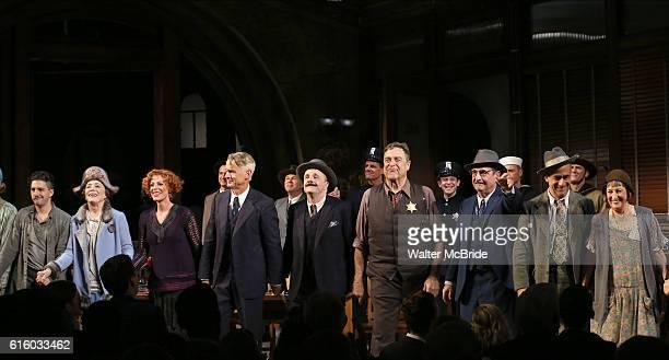 John Magaro Holland Taylor Sherie Rene Scott John Slattery Nathan Lane John Goodman David Pittu and Patricia Conolly with cast during the Broadway...