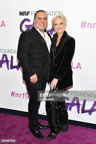 John Mahdessian and Dorinda Medley attend the 2018 National Retail Federation Gala at Pier 60 on January 14 2018 in New York City