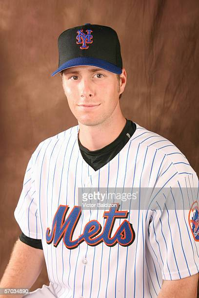 John Maine of the Mets poses for a portrait during the New York Mets photo day on February 24 2006 at Tradition Field in Port St Lucie Florida