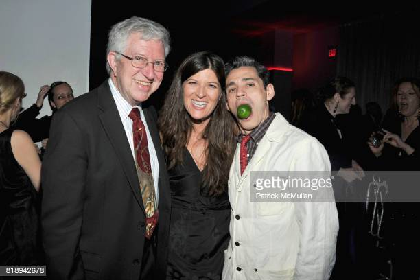 John Major Sharon Phair and Ruben Toledo attend PATTI SMITH Live in Concert A Benefit for The American Folk Art Museum at Espace on May 15 2010 in...