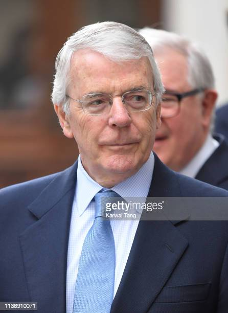 John Major visits King's College London to attend the official opening of Bush House the latest education and learning facilities on the Strand...