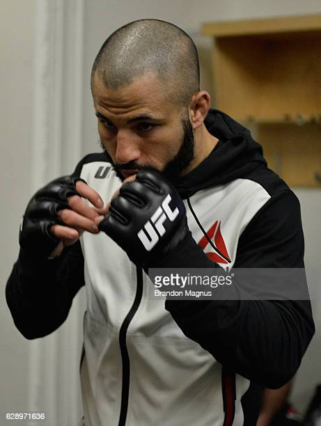 John Makdessi of Canada warms up backstage during the UFC 206 event inside the Air Canada Centre on December 10, 2016 in Toronto, Ontario, Canada.