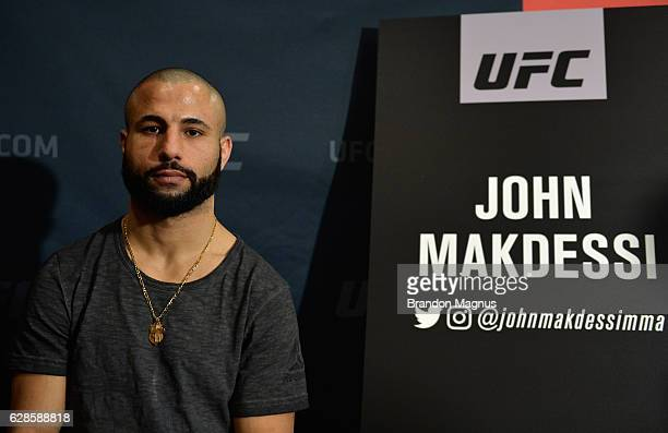 John Makdessi poses for a picture during the UFC 206 Ultimate Media Day event inside the Westin Harbour Castle Hotel on December 8, 2016 in Toronto,...