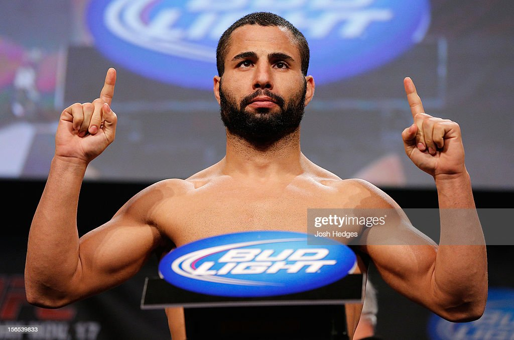 John Makdessi weighs in during the official UFC 154 weigh in at New City Gas on November 16, 2012 in Montreal, Quebec, Canada.
