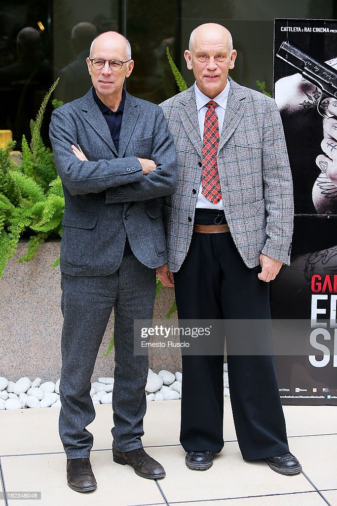 John Malkovich and Gabriele Salvatores attend the 'Educazione Siberiana' photocall at Hotel Visconti Palace on February 22, 2013 in Rome, Italy.