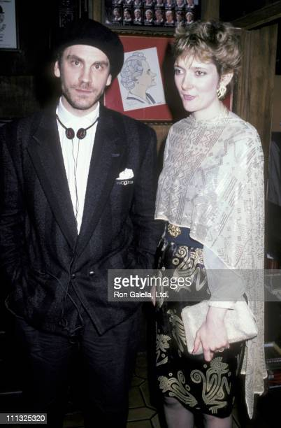 John Malkovich and Glenne Headly during Party for the Play 'The Caretaker' at Sardi's Restaurant in New York City New York United States