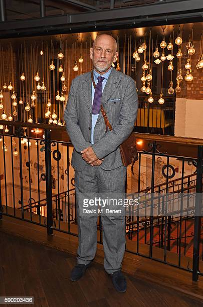 John Malkovich attends a Royal Court Theatre 60th anniversary film screening of The Libertine at the Picturehouse Central on August 16 2016 in London...