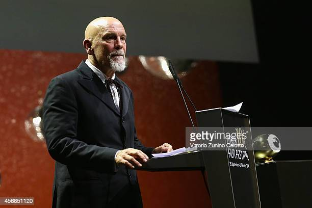 John Malkovich seen on stage with the Zurich Film Festival Lifetime Honor at the Award Night Ceremony during Day 10 of Zurich Film Festival 2014 on...