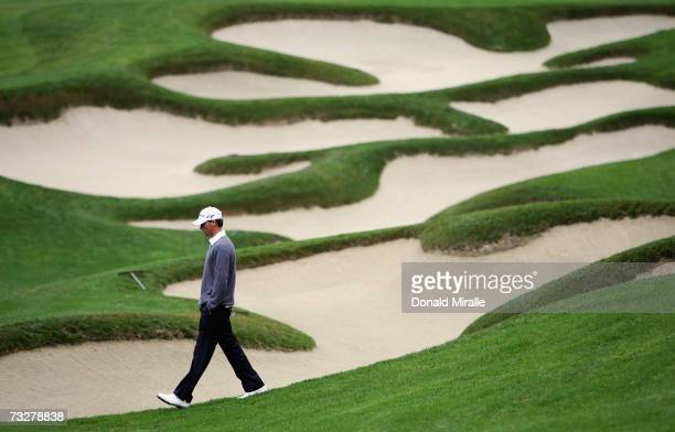 John Mallinger walks on the 11th fairway during the 2nd round of the AT&T Pebble Beach National Pro-Am on February 9, 2007 at Spyglass Hill Golf...