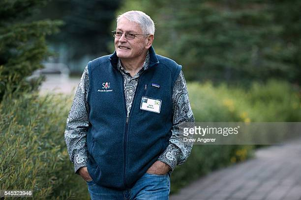 John Malone businessman and former chief executive of TeleCommunications Inc attends the annual Allen Company Sun Valley Conference July 7 2016 in...