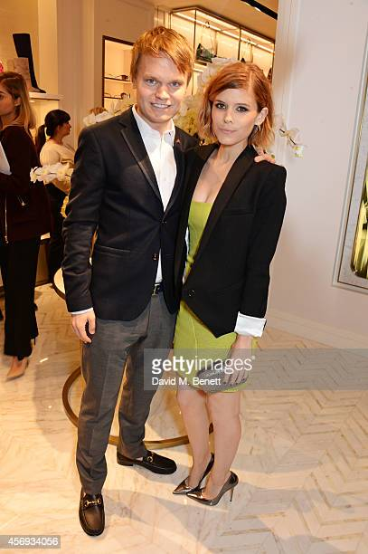 John Mara Jr and Kate Mara attend cocktail reception hosted by Pierre Denis CEO and Sandra Choi Creative Director of Jimmy Choo to celebrate the...