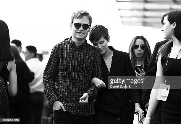 John Mara Jr and Kate Mara attend the DKNY show during New York Fashion Week 2016 on September 16 2015 in New York City