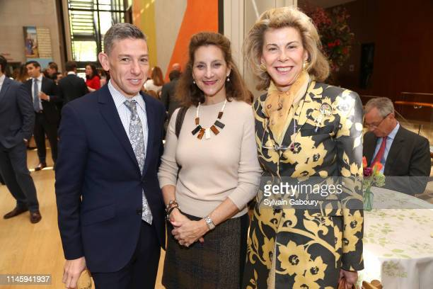 John Marciari Isabel Wilcox and Frances Beatty Adler attend The Morgan Library Museum's Annual Spring Luncheon at The Morgan Library Museum on April...