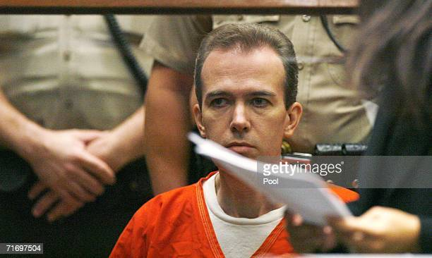 John Mark Karr the suspect in the killing of child beauty queen JonBenet Ramsey appears at an extradition hearing at the Los Angeles Superior Court...