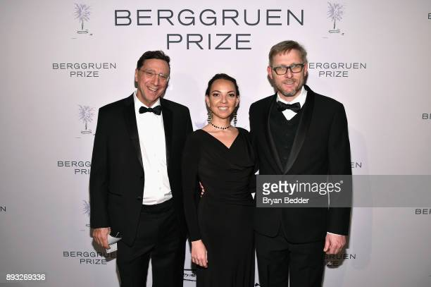 John Markoff Vania Sciolini and Nils Gilman attend the Berggruen Prize Gala at the New York Public Library on December 14 2017 in New York City