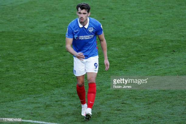 John Marquis of Portsmouth FC during the Sky Bet League One match between Portsmouth and Wigan Athletic at Fratton Park on September 26, 2020 in...