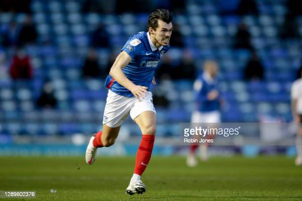 John Marquis of Portsmouth FC during the Sky Bet League One match between Portsmouth and Peterborough United at Fratton Park on December 05, 2020 in...
