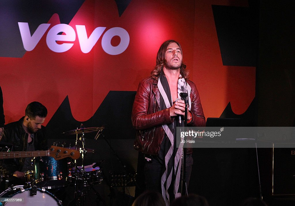 John Martin performs on stage at the Vevo Emerging Artists Showcase for Advertising Week Europe at Ronnie Scotts on April 2, 2014 in London, England.