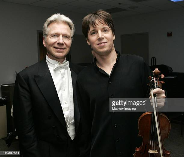 John Mauceri conductor of The Hollywood Bowl orchestra and Joshua Bell*exclusive*