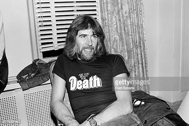 John Mayall during the promotion for the 'Starart' book that included art works by him and other musicians at the Gramercy Park Hotel in New York...