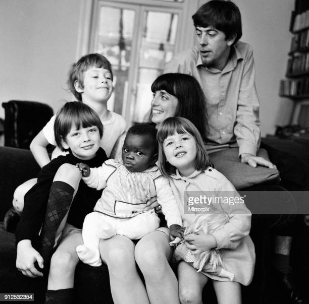 John Mayall of John Mayall the Bluesbreakers with his wife Pamela and children Tracey Jason Gary and Benedict their Nigerian baby who they have...