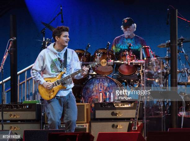 John Mayer and Bill Kreutzmann of Dead and Company perform during the Band Together Bay Area Benefit Concert at ATT Park on November 9 2017 in San...