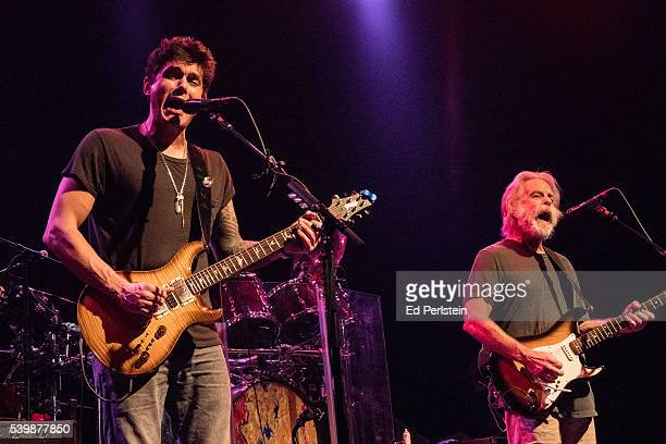John Mayer and Bob Weir perform with Dead and Company at The Fillmore on May 23 2016 in San Francisco California